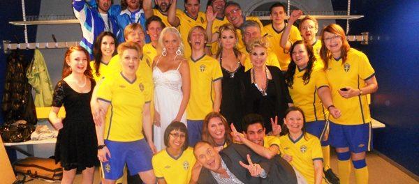 Pop- och rockkören Unisoul Vocal Choir uppträder på Idrottsgalan