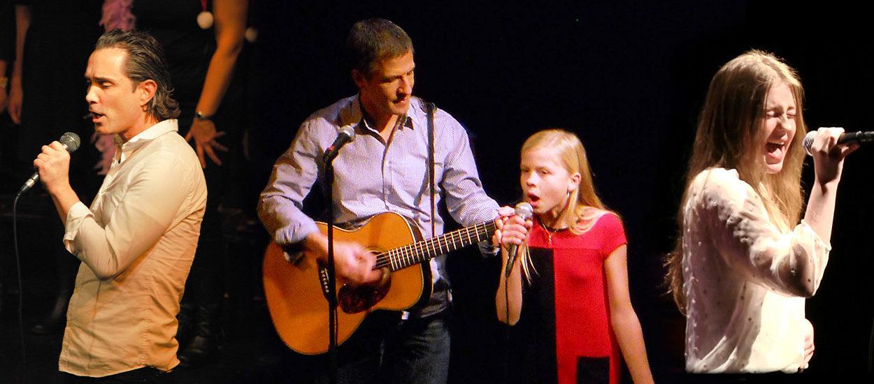 Sångelever sjunger på Boulevardteatern