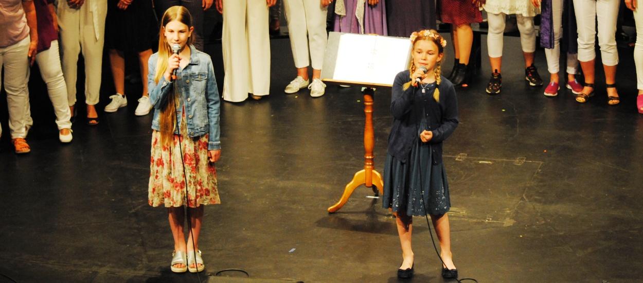 Barn sjunger Idas sommarvisa inför sökning till musikklass